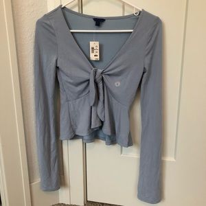 NWT blue Aeropostale Flowy long sleeve top